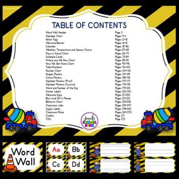 Construction Theme Classroom Decor EDITABLE (Construction Classroom Theme Decor)