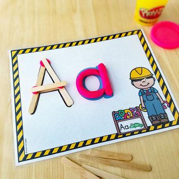 Construction Theme Alphabet Mats