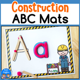Construction Theme Alphabet Mats