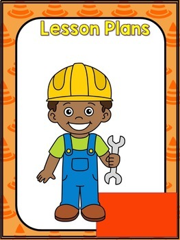Construction Theme Binder Cover and Spines (editable)