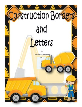 Construction (Theme) Borders, Numbers, and Letters Class Decor