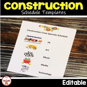 Construction Theme Class List and Schedule