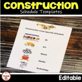 Construction Theme Classroom Decor Class  List and Schedule