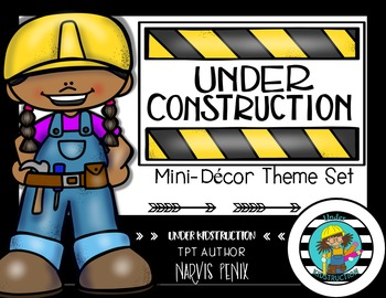 Construction Theme Classroom Mini Decor Set