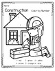 Construction Theme Color by Number Printables - 3 pages