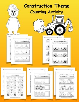 Construction Theme Counting Activity
