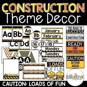 Construction Theme Decor BUNDLE