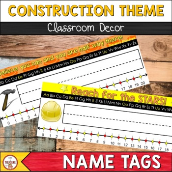 Construction Theme Classroom Decor Desk Name Tags