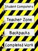 Construction Theme Labels Upper Grades Editable!