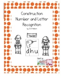 Construction Theme Number and Beginning Letter Sound Worksheet