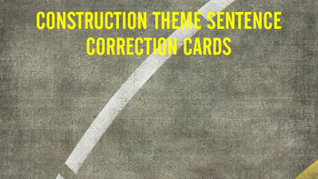 Construction Theme Sentence Correction Cards