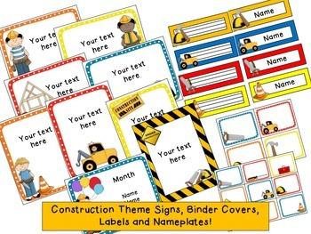 Construction Theme Classroom {Editable}