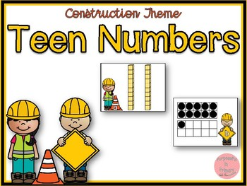 Construction Theme Teen Numbers