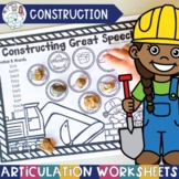 Construction Theme Worksheets for Articulation