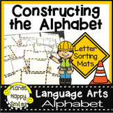 Construction Themed Alphabet Letter Sorting Mats