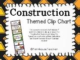 Construction Themed Behavior/Clip Chart