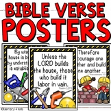 Construction Themed Bible Verse Posters