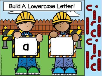 Construction Themed Build A Lowercase Letter Activities For GOOGLE CLASSROOM