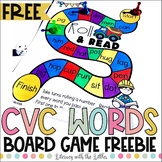 Construction Themed CVC Word Board Game Freebie