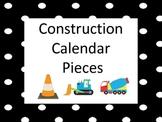 Construction Themed Calendar Pieces
