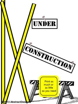 Construction Themed Classroom Decor
