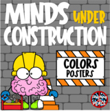 Construction Themed Colors Posters