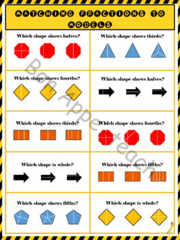 Construction Themed Fractions