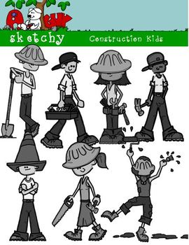 Construction  Clip Art / Construction Workers