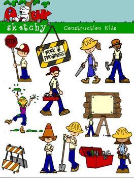 Construction  Clip Art / Construction Workers