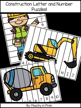 Construction Themed Letter and Number Puzzles