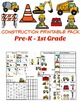 Construction Themed Math and Literacy Worksheets