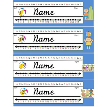 Beach Themed Name Plate (editable)