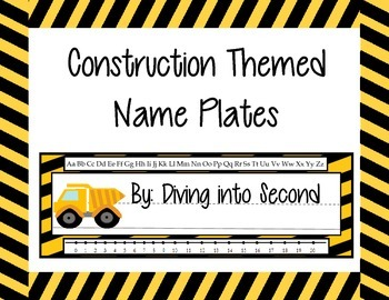 Construction Themed Name Plates
