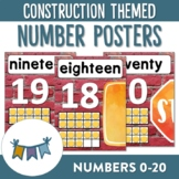 Construction Themed Number Posters