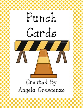 Construction Themed Punch Cards