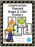 Construction Themed Shape and Color Posters