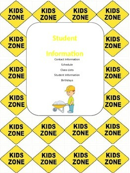 Construction Themed Teacher Binder (EDITABLE)