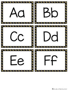 Construction Themed Word Wall Words