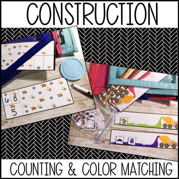 Construction Themed (busy bags, learning centers, quiet bags)