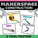 Construction Tool Posters - STEM Makerspace Posters