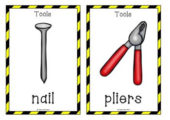 Construction Tools Picture Cards