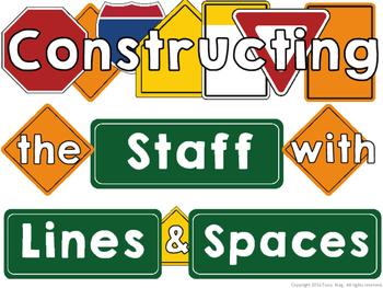 Construction Treble Clef Music Bulletin Board