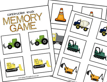 Construction Truck Matching Game