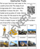 Construction Trucks: Informational Text and Writing Text