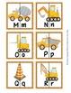 Construction Trucks Letter Match Puzzles