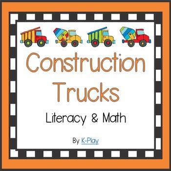 Math and Literacy - Construction Trucks