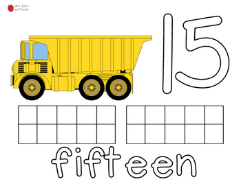 Construction Trucks Play Dough Mats Numbers 0 to 20