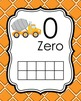 Construction Trucks Ten Frame Posters - 0 to 20