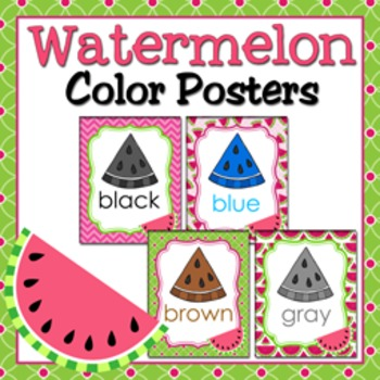 Watermelon Theme Color Posters