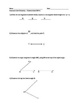 Construction Unit Homework Assignments